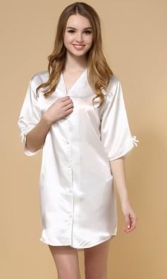 ec0c7d6b41 Satiny Oversized Button Up Sleep Shirt – THEONE APPAREL