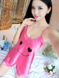 Satiny Smiley Face PJ Short Set - Theone Apparel