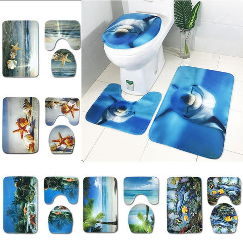 Scenes From The Sea Bath Mat Sets