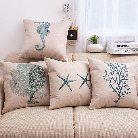 Sea of Dreams Beach Themed Pillow Covers