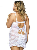 See-Through Lace Plus Size Slip Dress - Theone Apparel