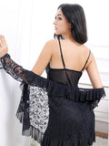 Sheer Lace Babydoll with Coverup - Theone Apparel