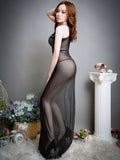 Sheer Lace Full-Length Lingerie Gown - Theone Apparel