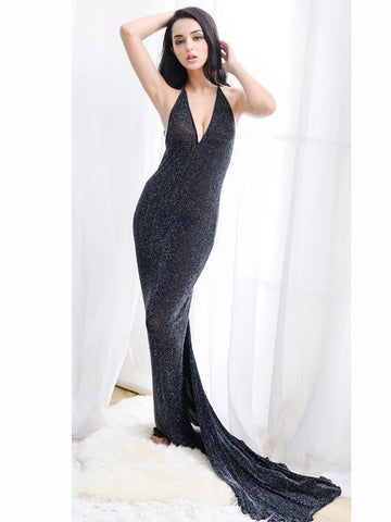Shimmery Sheer Full-Length Lingerie Gown - Theone Apparel