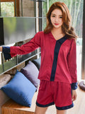 Silky Shorts Pajamas Set - Theone Apparel