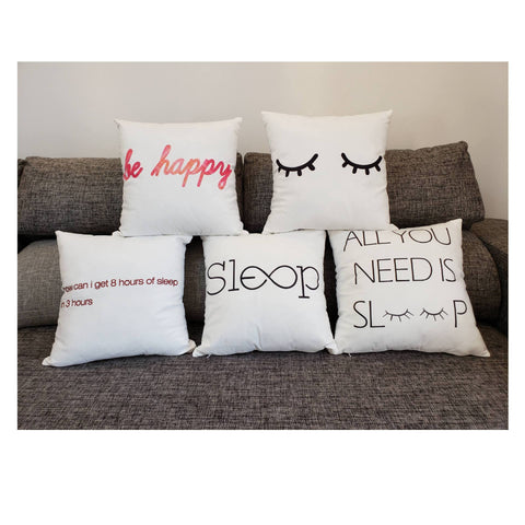 Sleep Mode Scripted Pillow Covers