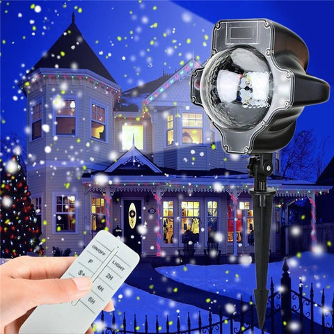 Snowfall Waterproof Projector with Remote