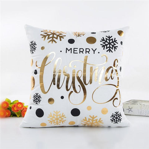 Snowflake Christmas Decorative Pillow Cover