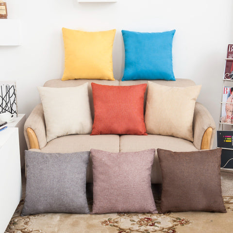 Square Solid Color Pillow Covers