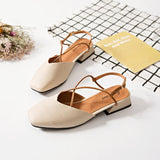 Square Toe Ankle Strap Sandals