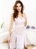 Strappy Hanging Lace Babydoll Set - Theone Apparel