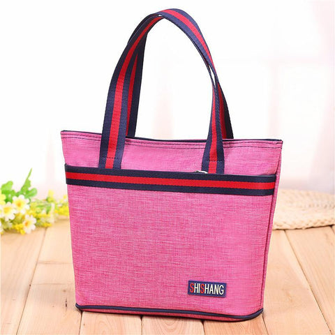 Strappy Shopper Tote Handbag