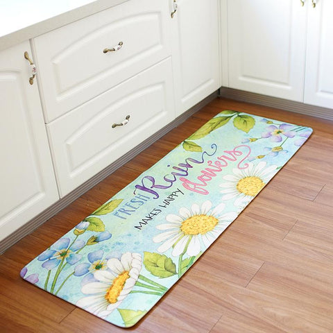 Sunflowers and Sunshine Long Kitchen Mat