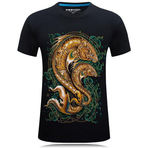 Symbolic Coy Fish Front Design Shirt