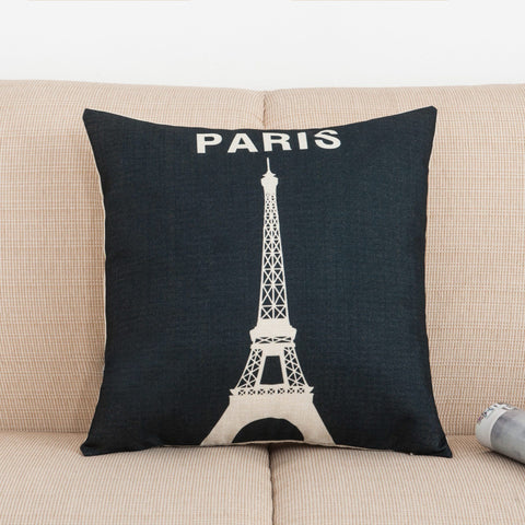 To Paris With Love Printed Pillow Covers