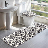 Trendy Throwback Print Bath Mat Set