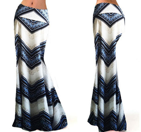 Tribal Band Stretch Maxi Skirt