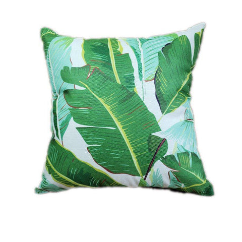 Tropical Palm Leaf Print Pillow Cover