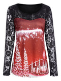 Ugly Red and Black Christmas Lace Shirt