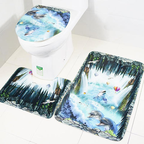 Under The Waterfall Bath Mat Set
