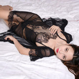 Vintage Glam Lace Lingerie Illusion Dress