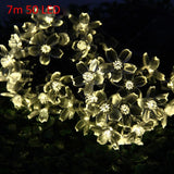 Blossom Shaped LED Solar String Ornament - Theone Apparel