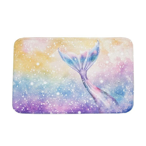 Water Color Mermaid Tail Floor Mats