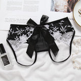 Beauty in a Bow Crotchless Panty - Theone Apparel