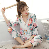 Lacy Tropical Floral Sleepwear Set