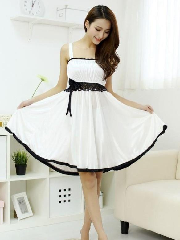 Pleated Mini Dress with Lace