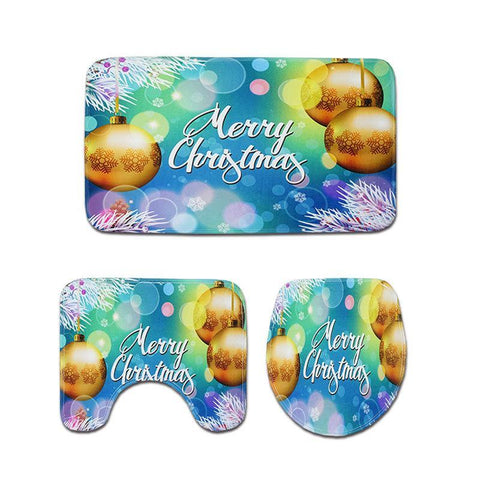 Winter Wonderland Christmas Bath Mat Sets