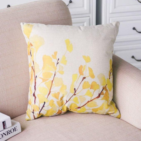 Yellow Flower Blossom Pillow Cover