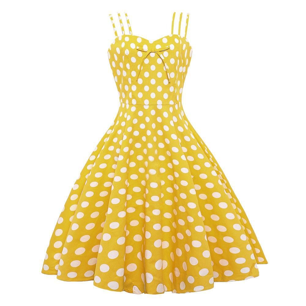 Polka Dot Triple Strap Summer Dress