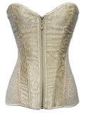 Zippered Lacy Lingerie Corset - Theone Apparel