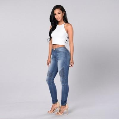 Figure Flattering Skintight Stretch Jeans - Theone Apparel