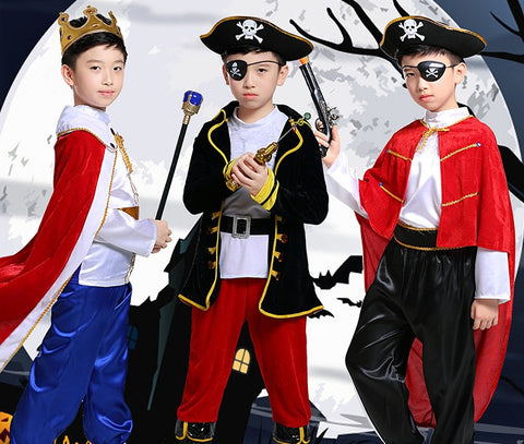 Pirates and the King Halloween Costume for Boys