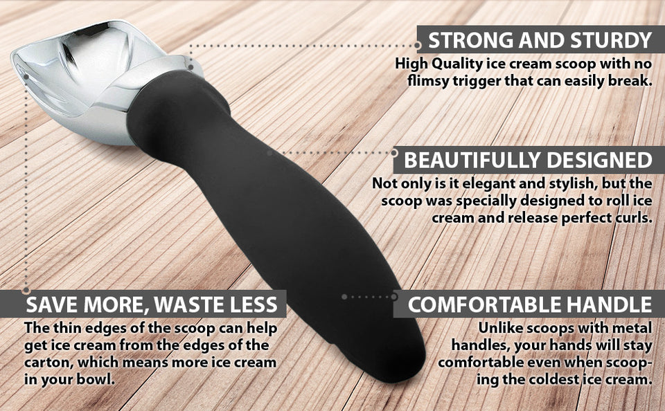 Spring Chef Ice Cream Scoop with Comfortable Handle