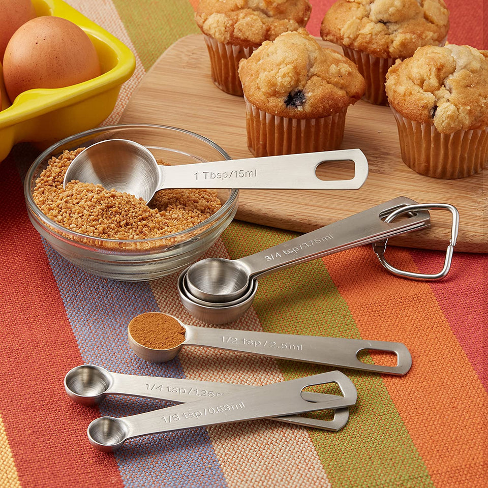 Round Measuring Spoons for Dry and Liquid