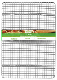 Oven Safe, Heavy Duty Stainless Steel Baking Rack & Cooling Rack, 12 x 17 inches Fits Half Sheet Pan  …