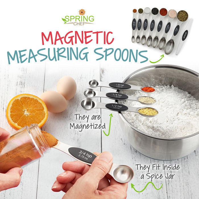 Spring Chef Magnetic Measuring Spoons Set (Set of 8)