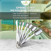 Heavy Duty Stainless Steel Metal Measuring Spoons (Set of 7 Including Leveler)
