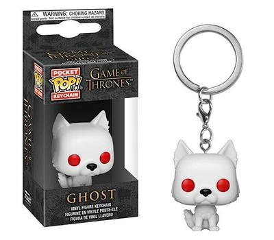 Game Of Thrones | Ghost Pop! Vinyl Figure Key Chain Pop! Vinyl Figure Out Of The Box Nerd Default Title