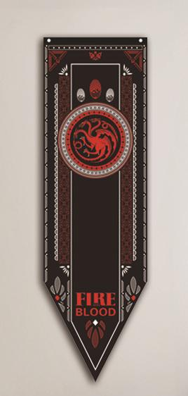 Game of Thrones House Banners Game Of Thrones Out Of The Box Nerd Targaryen XS 16x50cm
