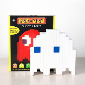 PAC-MAN Ghost Multicolored LED Rechargeable Desktop Light Lamp Out Of The Box Nerd