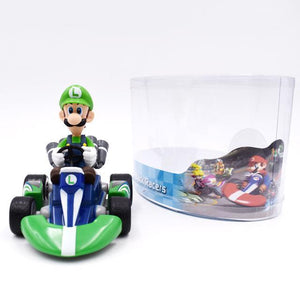 Super Mario Bros Character Miniature Models Super Mario Bros Merch Out Of The Box Nerd 13cm luigi car