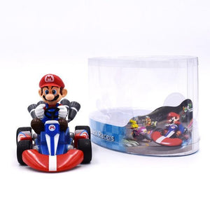 Super Mario Bros Character Miniature Models Super Mario Bros Merch Out Of The Box Nerd 13cm mario car