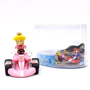 Super Mario Bros Character Miniature Models Super Mario Bros Merch Out Of The Box Nerd 13cm princess car