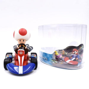 Super Mario Bros Character Miniature Models Super Mario Bros Merch Out Of The Box Nerd 13cm toad car