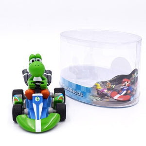 Super Mario Bros Character Miniature Models Super Mario Bros Merch Out Of The Box Nerd 13cm yoshi car