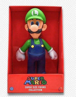 Super Mario Bros Character Miniature Models Super Mario Bros Merch Out Of The Box Nerd 23cm Luigi in box